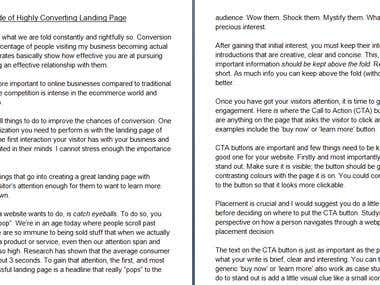 Ultimate Guide of Highly Converting Landing Page Article