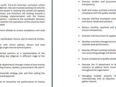 CV Adjustment
