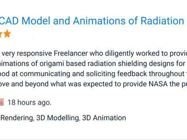NASA 3D CAD Model and Animations of Radiation Shielding
