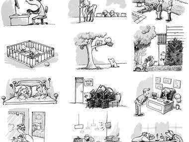 """The New Yorker"" Style Cartoons"