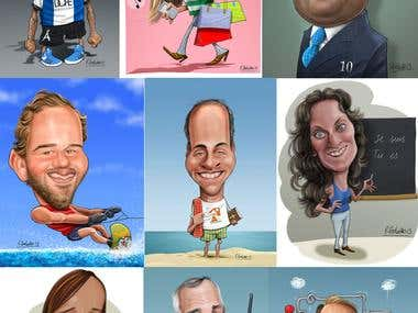 Private Commission Caricatures