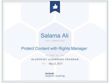 protect content with rights manger