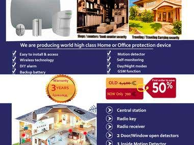 Security System Promotion Flayer design