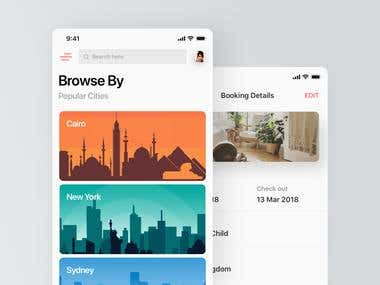 Hotel search and booking app