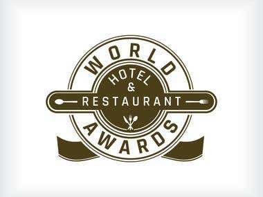 World Hotel & Restaurant Awards logo Design