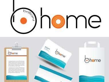 b home logo