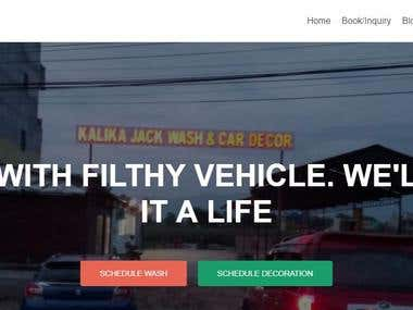 Wordpress site for Car Decor