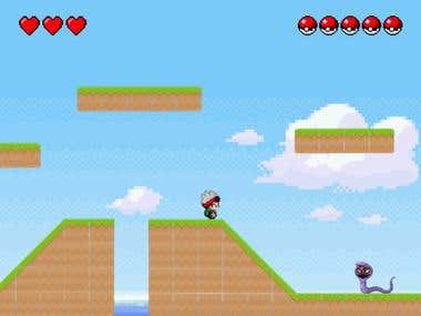 Pokemon-themed 2D platformer game (PC, Mac, iOS, Android)