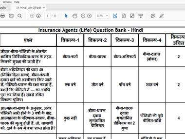 Hindi Question Paper Typing