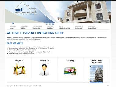 Website for Sassine Contracting Group
