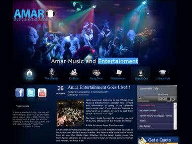 DJ Website developed in wordpress