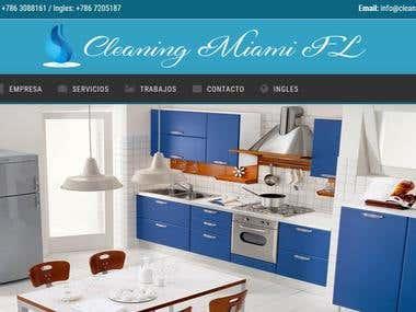 Pagina web de limpieza - Cleaning Miami FL