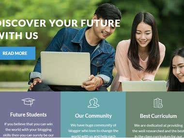 Education site(WordPress theme customization work)