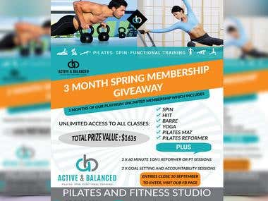 Flyer on Fitness