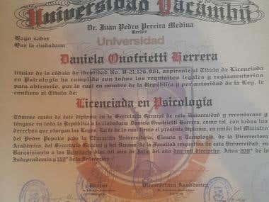 Titulo Universitario