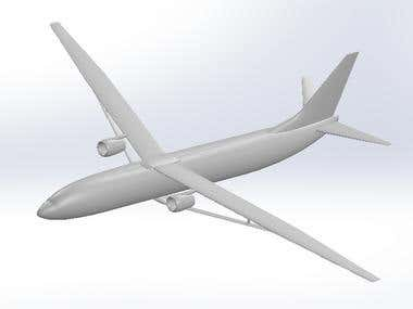 CAD Model Of Truss Braced Wing Aircraft