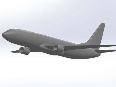 CAD Model Of Boeing 737-800