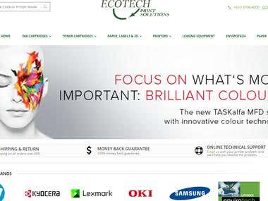 Magento Printing Solution Ecommerce Website