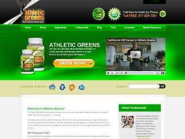 Athletic Greens Website.