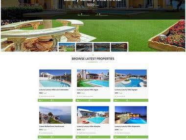 Spanish Villan Property Booking WordPress Website