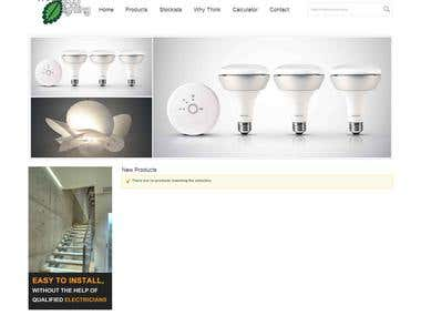 Website Vibeecolighting Homepage