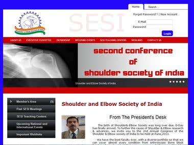 Shoulder Society of India Website