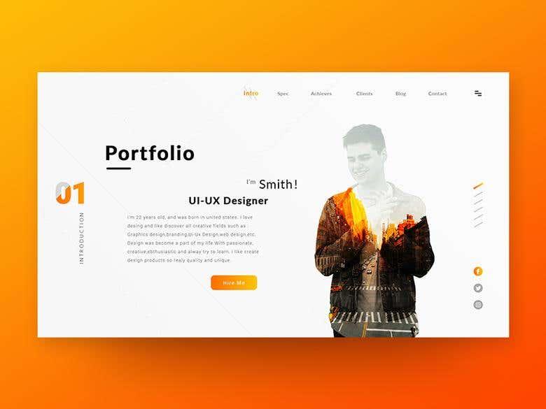 Portfolio Landing Page Design Freelancer