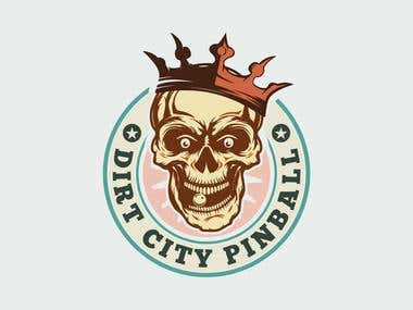 Logo design: DIRT CITY PINBALL
