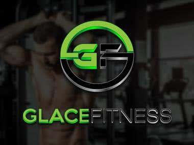 Logo design: GLACE FITNESS