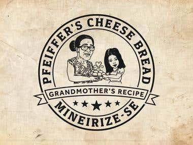 Logo design: PFEIFFER'S CHEESE BREAD