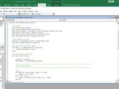 Excel VBA Macro
