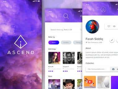 iAscend - Mobile app design UI/UX