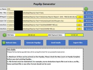 PowerQuery + VBA for Payslip calculation and generation