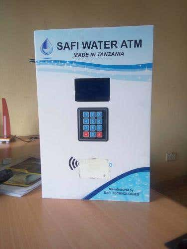 Prepaid smart water meter for public waterhole points
