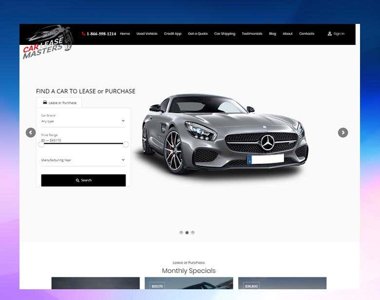 Lease To Own Car >> Car Lease Website Freelancer