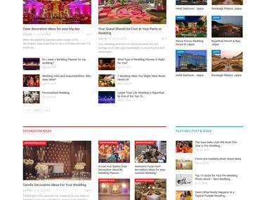 Wordpress Blog site For Events