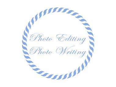 Photo Editing - Photo Writing