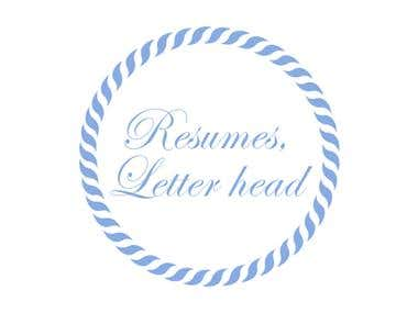 Resumes - Letterhead