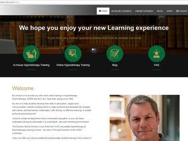 Online Learning Website Development