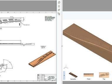 Pinblock, details in 2D and 3D PDF.