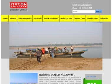 Website for a Travel Agency