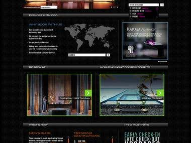 Hotel & Holiday booking website