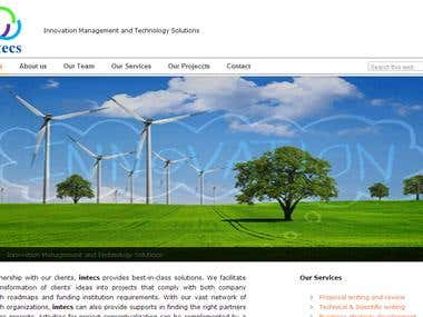 Website for a German Research Organisation