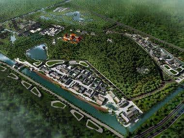 Township & Cultural Centre 3D Rendering