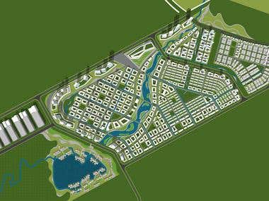 Masterplan Design Layout & 3D Massing Model Study