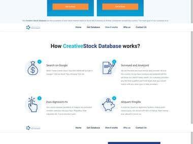 Creative stock database