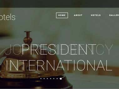 Full Responsive Website for Group of Hotels