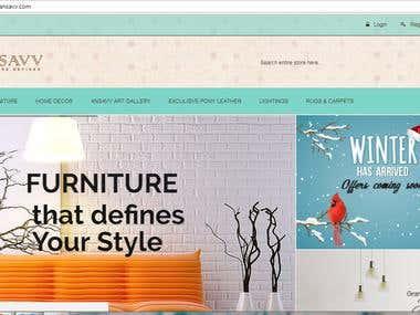 Full Responsive E-commerce Website for Home Decor.