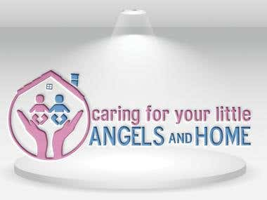 logo caring for your little angels and home