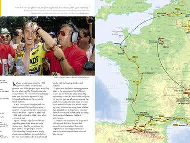 Map / Photo Book: Harper Collins - Mapping Le Tour